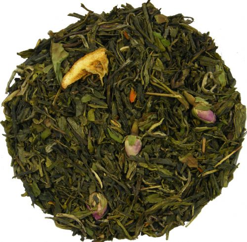 Creme d' Orange Green & White Loose Leaf Tea in Assorted Packs